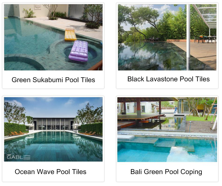 Green sukabumi stone sawn cutprice indonesia natural stone for Green garden pool jakarta
