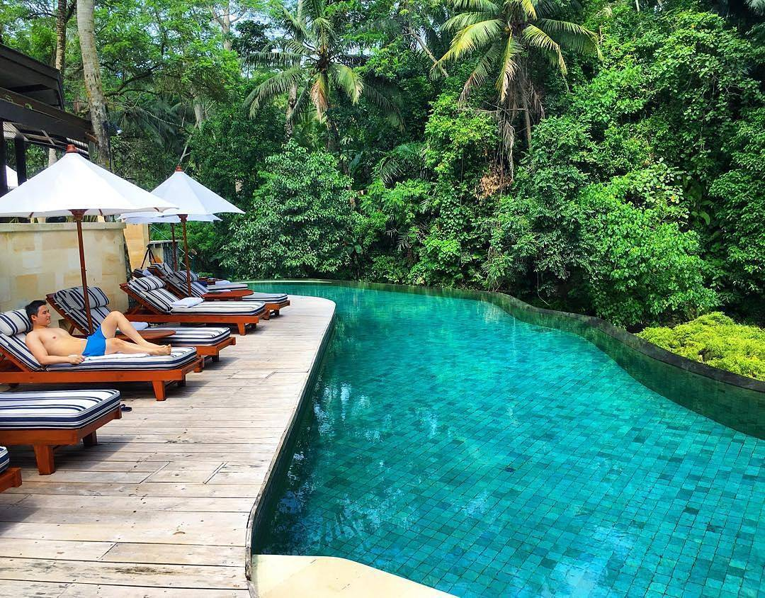 Bali green stone indonesia natural stone for Stone swimming pool