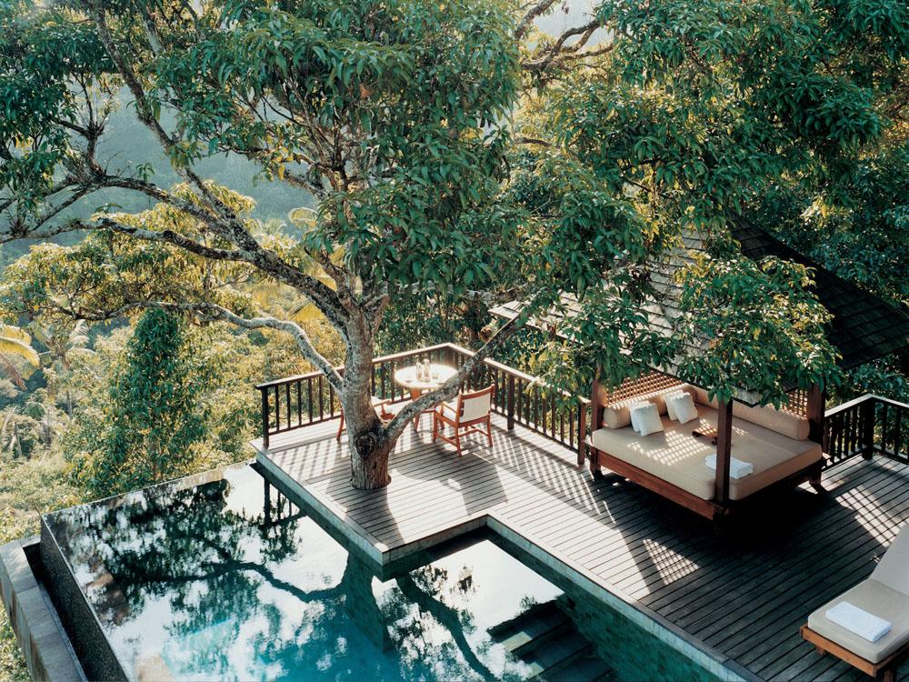 Green Sukabumi Stone And BlackLavastoneinComo Shambala Pool Bali