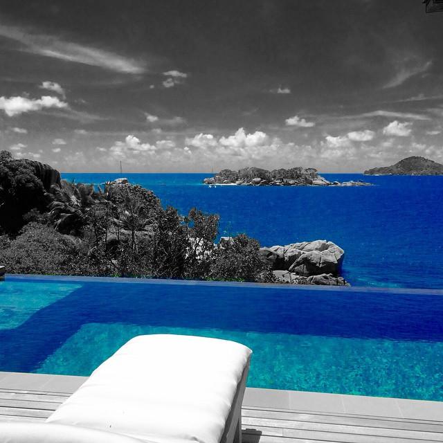 Green Swimming Pool at Six Senses Zil Pasyon Seycelles