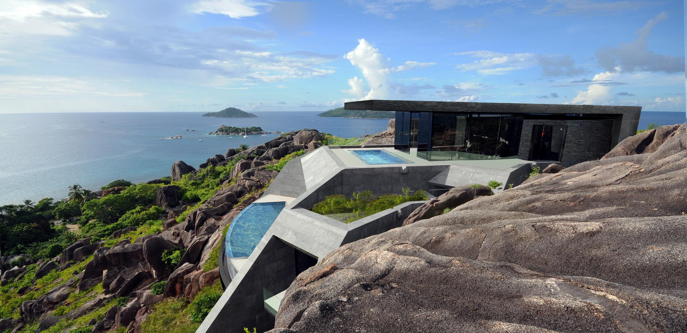 Bali Green Swimming Pool at Six Senses Resort Felicite Island Sexcelles2