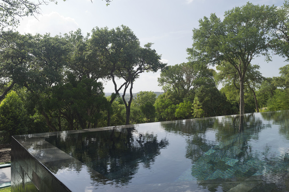 Black Lavastone Pool By Modern Db Texas USA-2