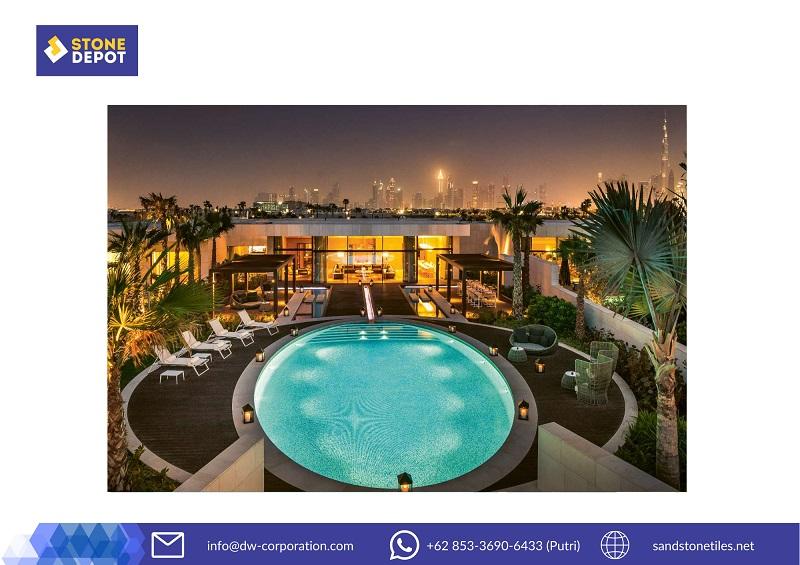 bali-stone-tiles-for-swimming-pool-at-bulgari-dubai-resort